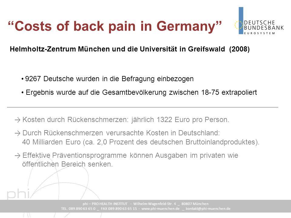 phi – PRO HEALTH INSTITUT - Wilhelm-Wagenfeld-Str.