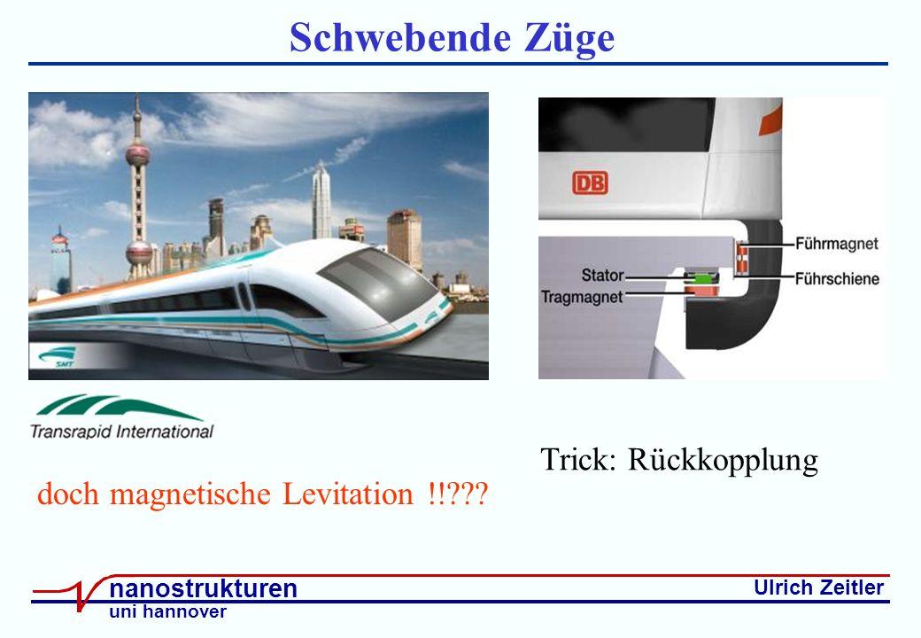 Ulrich Zeitler nanostrukturen uni hannover Schwebende Züge doch magnetische Levitation !!??.