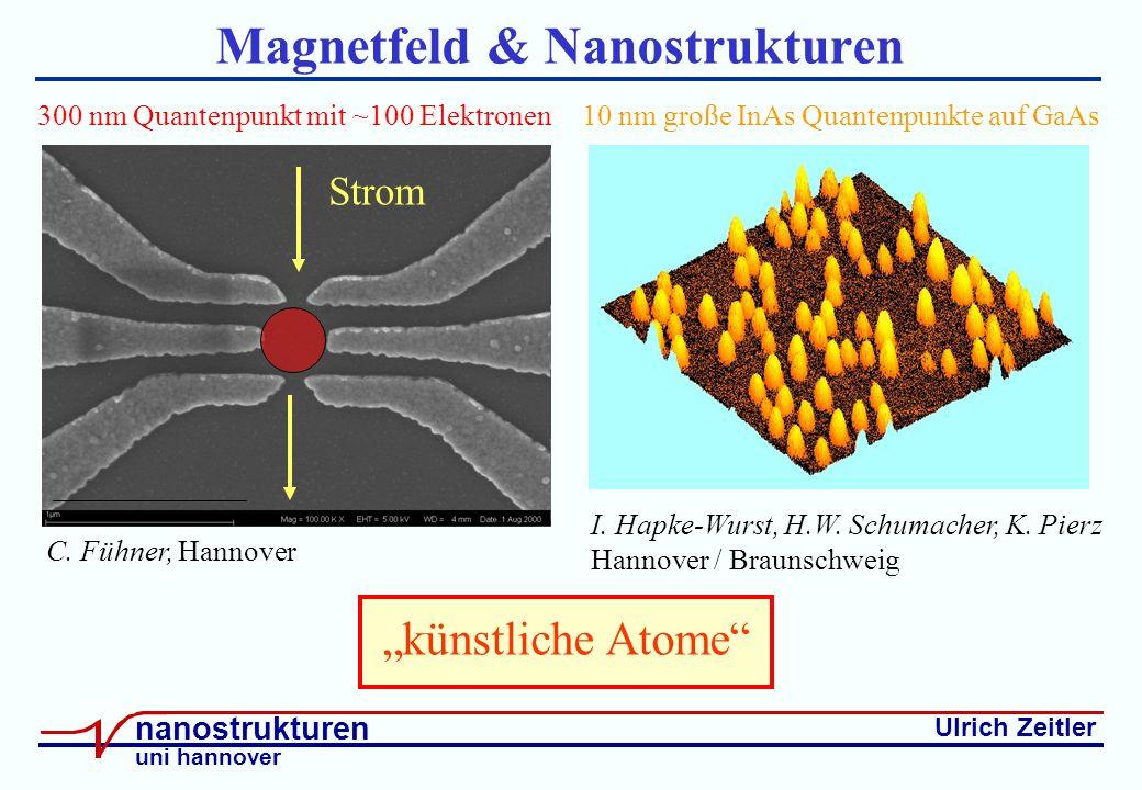 Ulrich Zeitler nanostrukturen uni hannover Magnetfeld & Nanostrukturen C.