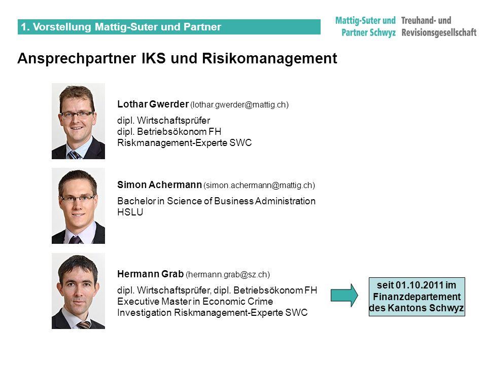Simon Achermann (simon.achermann@mattig.ch) Bachelor in Science of Business Administration HSLU 1. Vorstellung Mattig-Suter und Partner Ansprechpartne