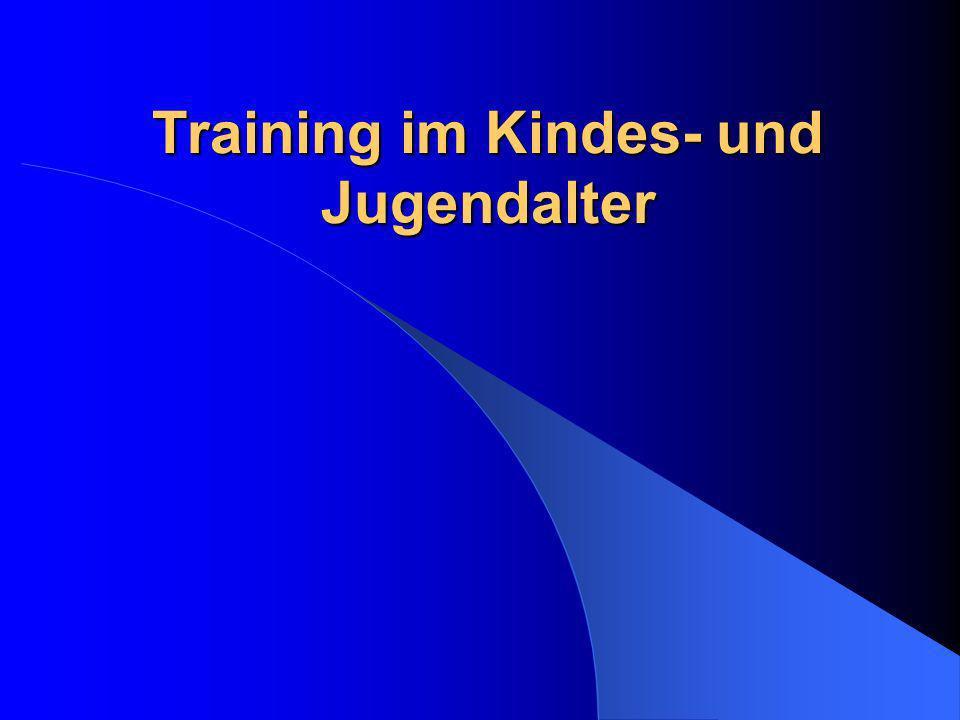 Training im Kindes- und Jugendalter