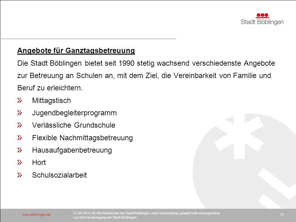 www.böblingen.de 21.04.2014 | © Alle Rechte bei der Stadt Böblingen.
