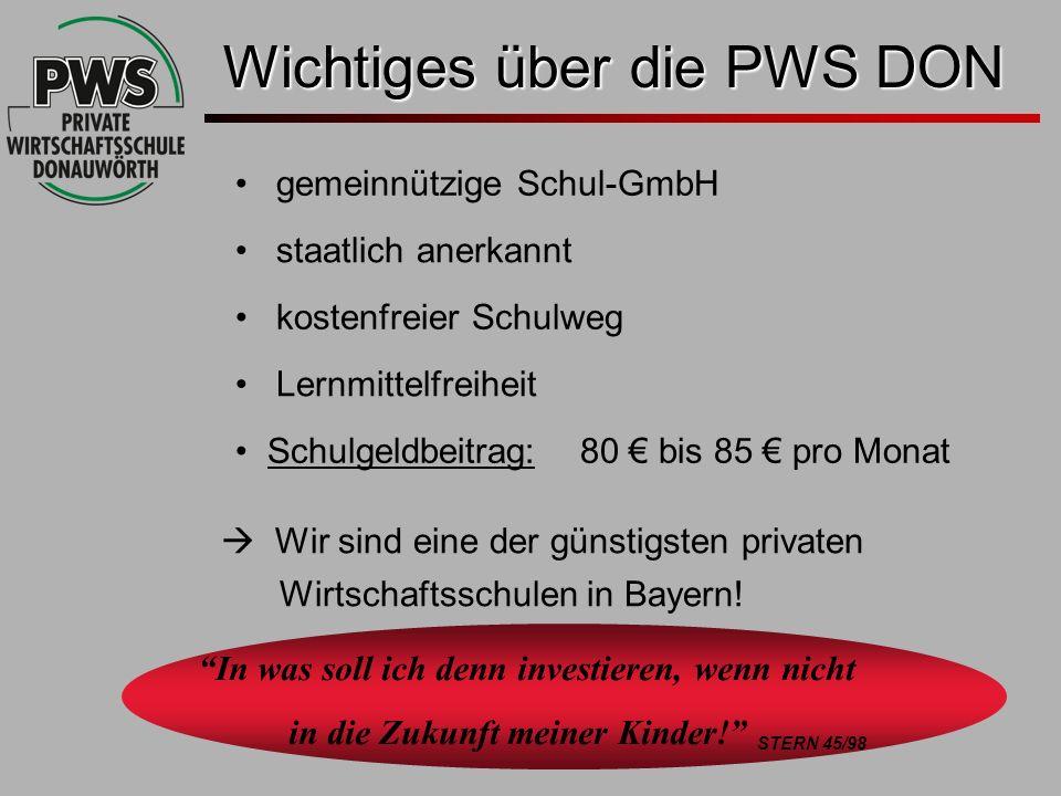gemeinnützige Schul-GmbH staatlich anerkannt kostenfreier Schulweg Lernmittelfreiheit Schulgeldbeitrag: 80 bis 85 pro Monat In was soll ich denn inves