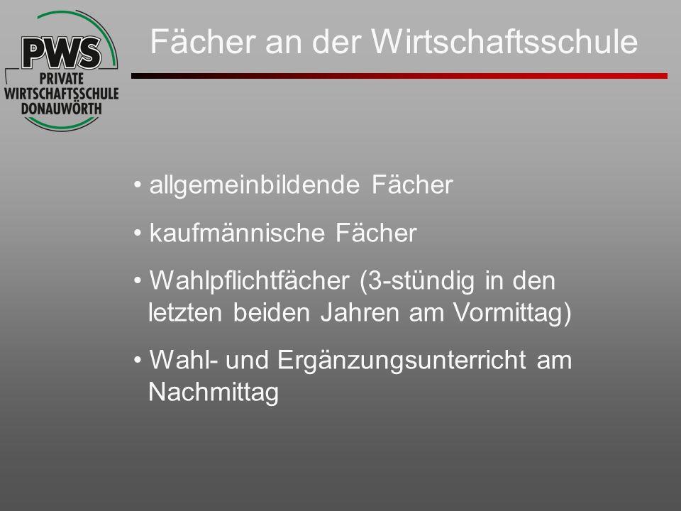 allgemeinbildende Fächer Deutsch Sport Biologie Musik Geschichte Erdkunde Englisch Mathematik (7.
