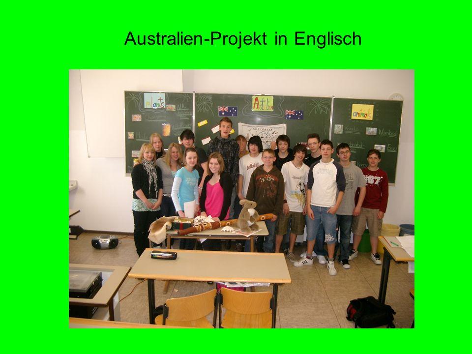 Australien-Projekt in Englisch