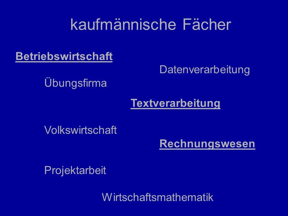 Wahlpflichtfächer (vormittags) drei- und vierstufige WS in den Jgst.