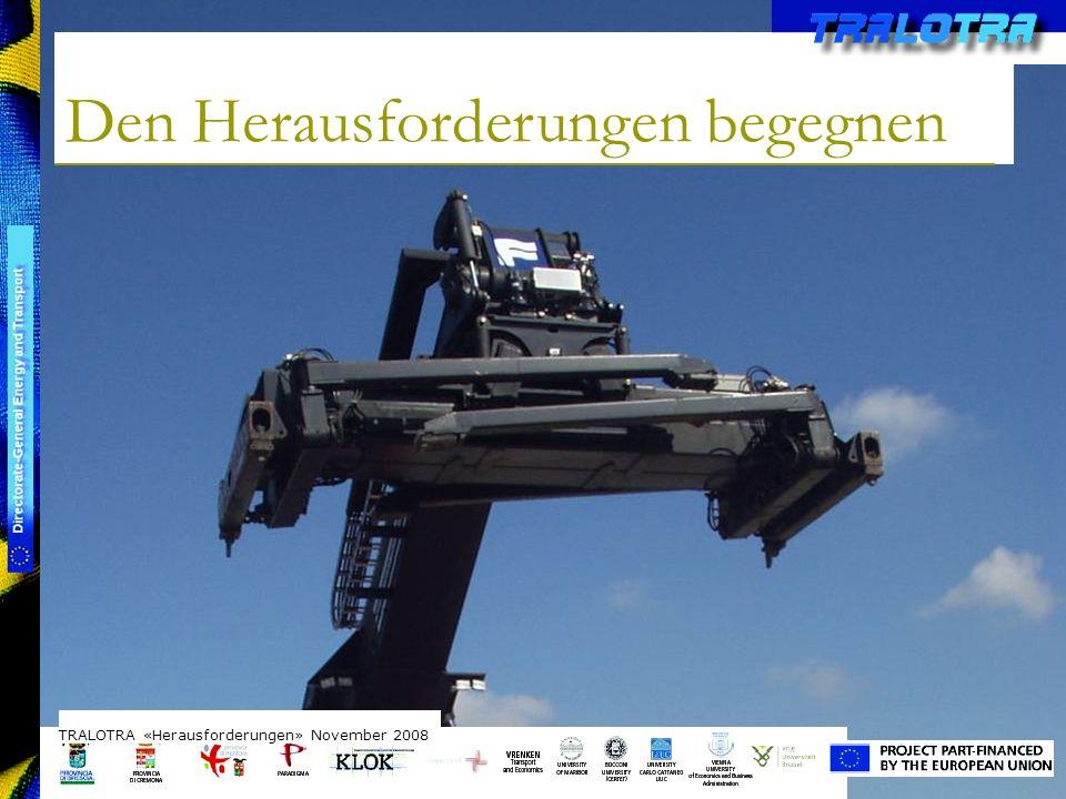 TRALOTRA Workshop – Brussels 3/10/08 Den Herausforderungen begegnen TRALOTRA «Herausforderungen» November 2008