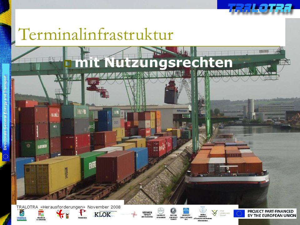 TRALOTRA Workshop – Brussels 3/10/08 Terminalinfrastruktur TRALOTRA «Herausforderungen» November 2008 mit Nutzungsrechten