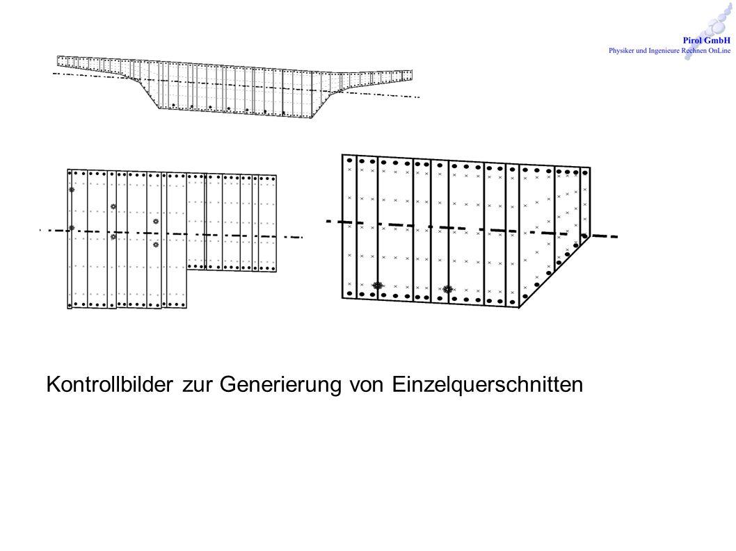 Kontrollbilder zur Generierung von Einzelquerschnitten