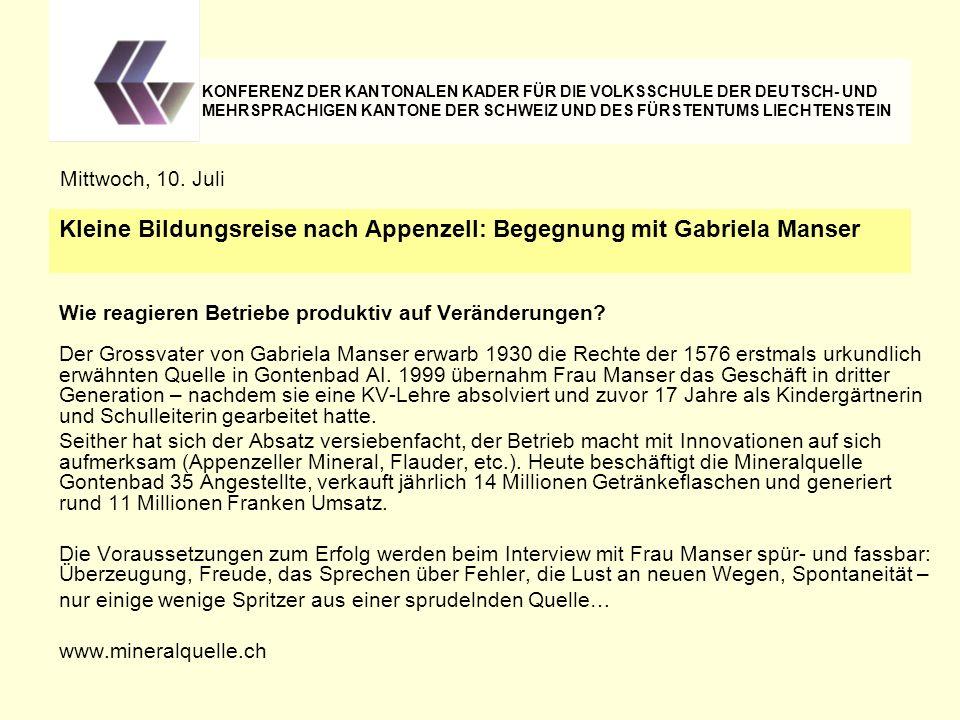 Wie reagieren Betriebe produktiv auf Veränderungen? Der Grossvater von Gabriela Manser erwarb 1930 die Rechte der 1576 erstmals urkundlich erwähnten Q
