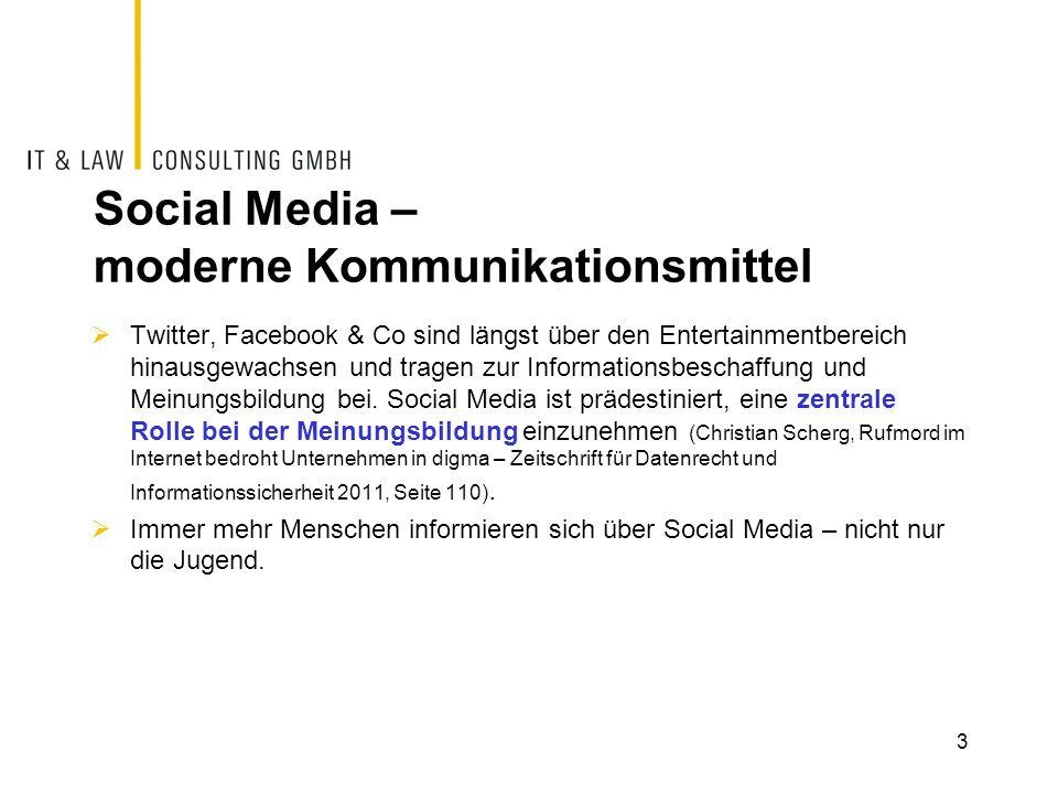 Social Media – moderne Kommunikationsmittel Twitter, Facebook & Co sind längst über den Entertainmentbereich hinausgewachsen und tragen zur Informatio