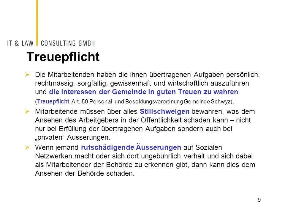 Beispiele Äusserungen auf Facebook und Twitter führen zum Verlust des politischen Amts und / oder der Stelle: Quellen: http://www.tagesanzeiger.ch/panorama/vermischtes/FacebookBeitrag-kostet-SVPPolitiker-das-Amt/story/23190006 http://www.tagesanzeiger.ch/panorama/vermischtes/FacebookBeitrag-kostet-SVPPolitiker-das-Amt/story/23190006 10