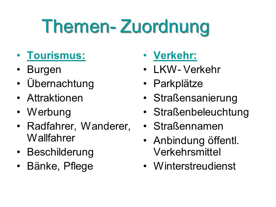 Straßennamen, Gehwege Schnelles Finden (Notarzt, Paketdienste usw.) Norm in Deutschland weniger Nachfragen Ortsname kann verschwinden Erfordert Datenänderungen z.B.