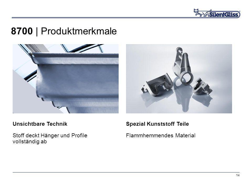 14 Spezial Kunststoff Teile Flammhemmendes Material Unsichtbare Technik Stoff deckt Hänger und Profile vollständig ab 8700 | Produktmerkmale