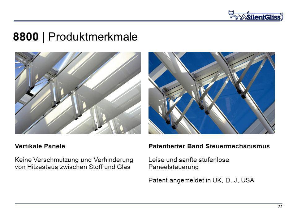 23 Vertikale Panele Keine Verschmutzung und Verhinderung von Hitzestaus zwischen Stoff und Glas Patentierter Band Steuermechanismus Leise und sanfte s