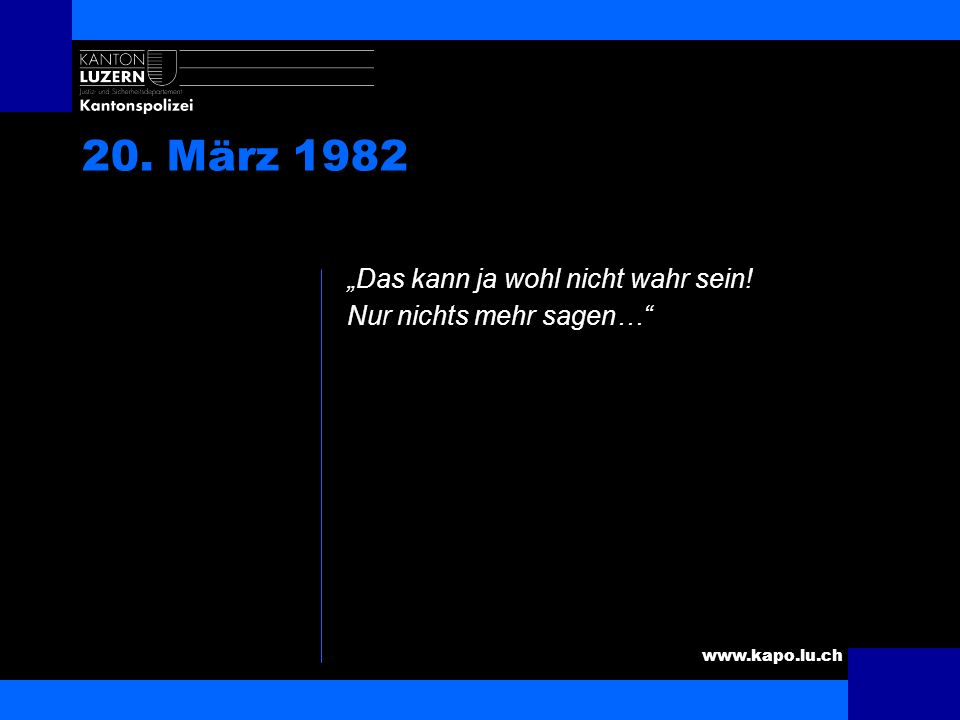 www.kapo.lu.ch 20. März 1982 Frauen bei der Polizei…