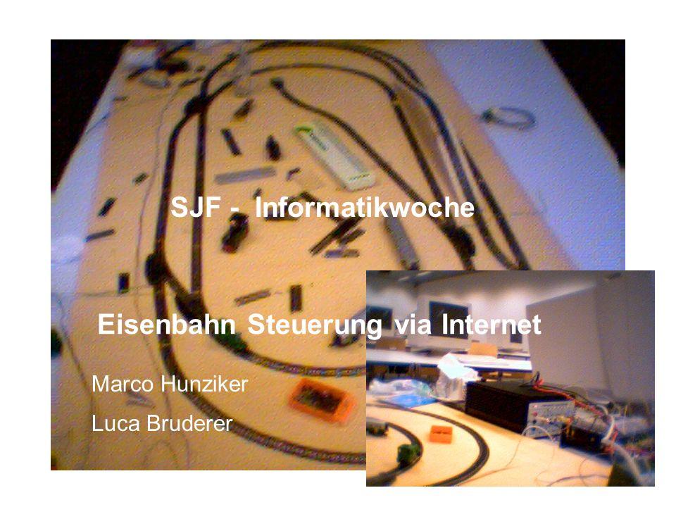 Eisenbahn Steuerung via Internet SJF - Informatikwoche Marco Hunziker Luca Bruderer