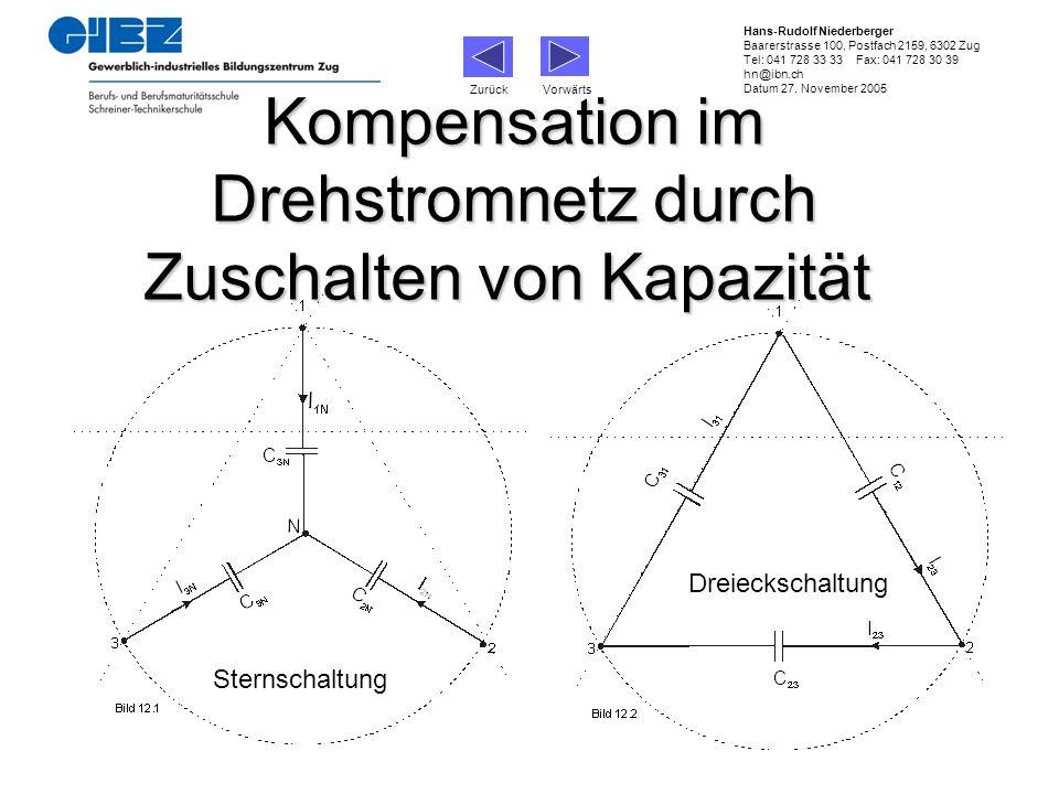 Zurück Vorwärts Hans-Rudolf Niederberger Baarerstrasse 100, Postfach 2159, 6302 Zug Tel: 041 728 33 33 Fax: 041 728 30 39 hn@ibn.ch Datum 27. November
