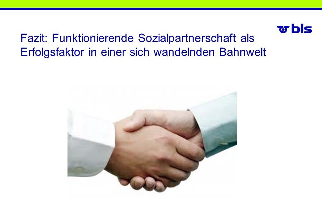 Fazit: Funktionierende Sozialpartnerschaft als Erfolgsfaktor in einer sich wandelnden Bahnwelt