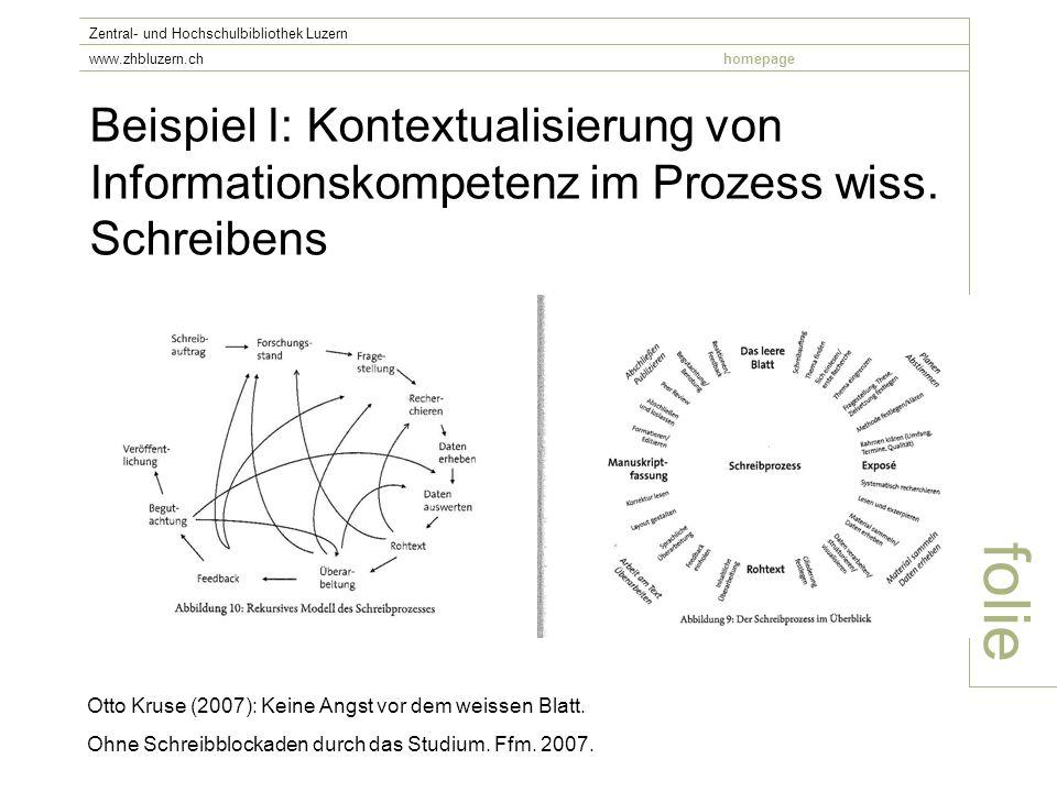 Beispiel I: Kontextualisierung von Informationskompetenz im Prozess wiss.