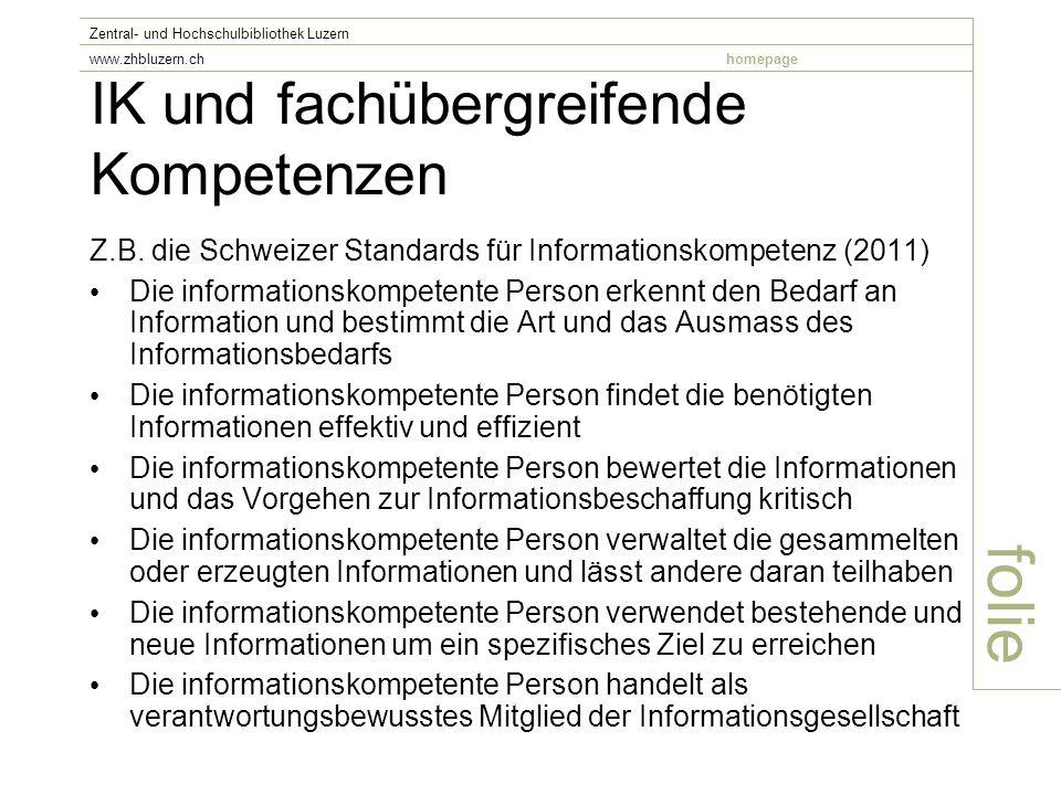 IK und fachübergreifende Kompetenzen Z.B.