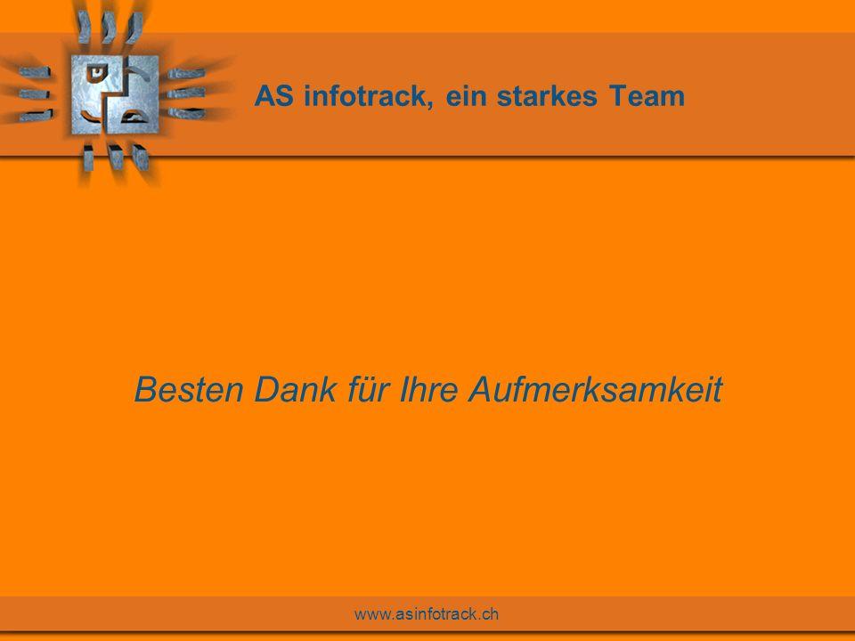 www.asinfotrack.ch AS infotrack, ein starkes Team Besten Dank für Ihre Aufmerksamkeit
