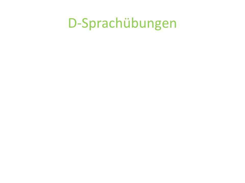 D-Sprachübungen