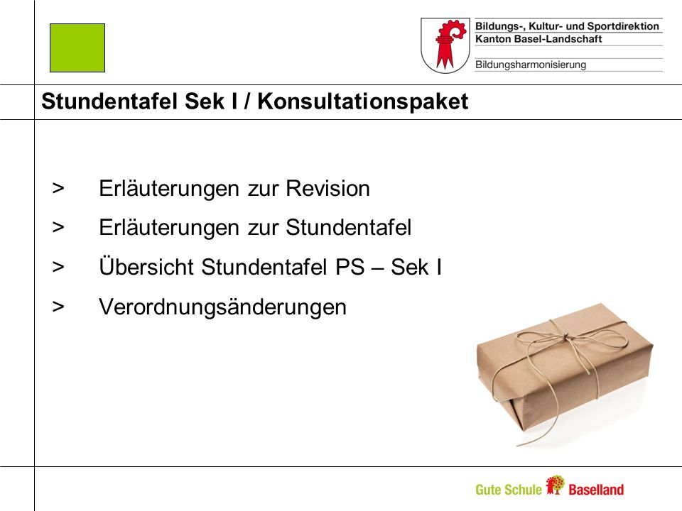 Stundentafel Sek I / Konsultationspaket >Erläuterungen zur Revision >Erläuterungen zur Stundentafel >Übersicht Stundentafel PS – Sek I >Verordnungsänd