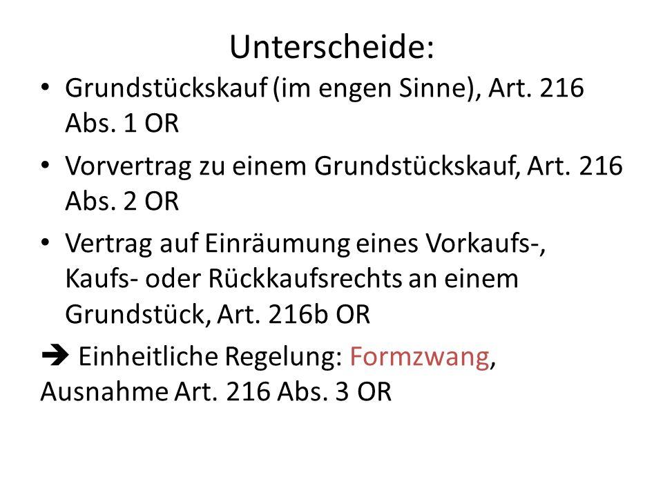 Unterscheide: Grundstückskauf (im engen Sinne), Art.