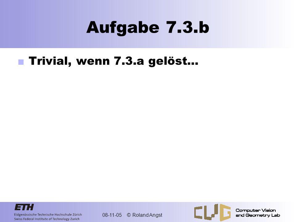 08-11-05 © Roland Angst Aufgabe 7.3.c Polynom in unserer Basis Gegeben 4 Funktionswerte yi an 4 verschiedenen Stellen ti 4 Bedingungen…