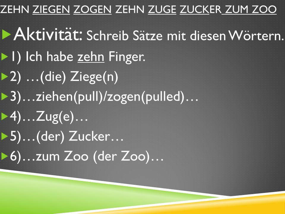 Z… Z… Z… Z… Aktivität: Schau deine Notizen nicht an.