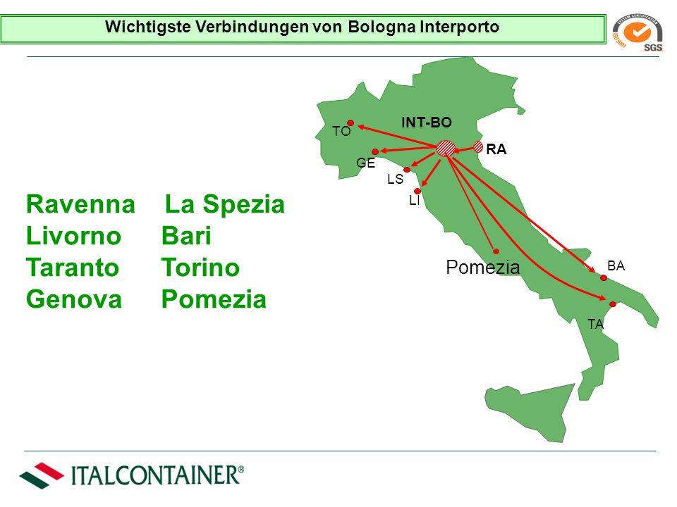 Bologna im Radius v. 75 Km