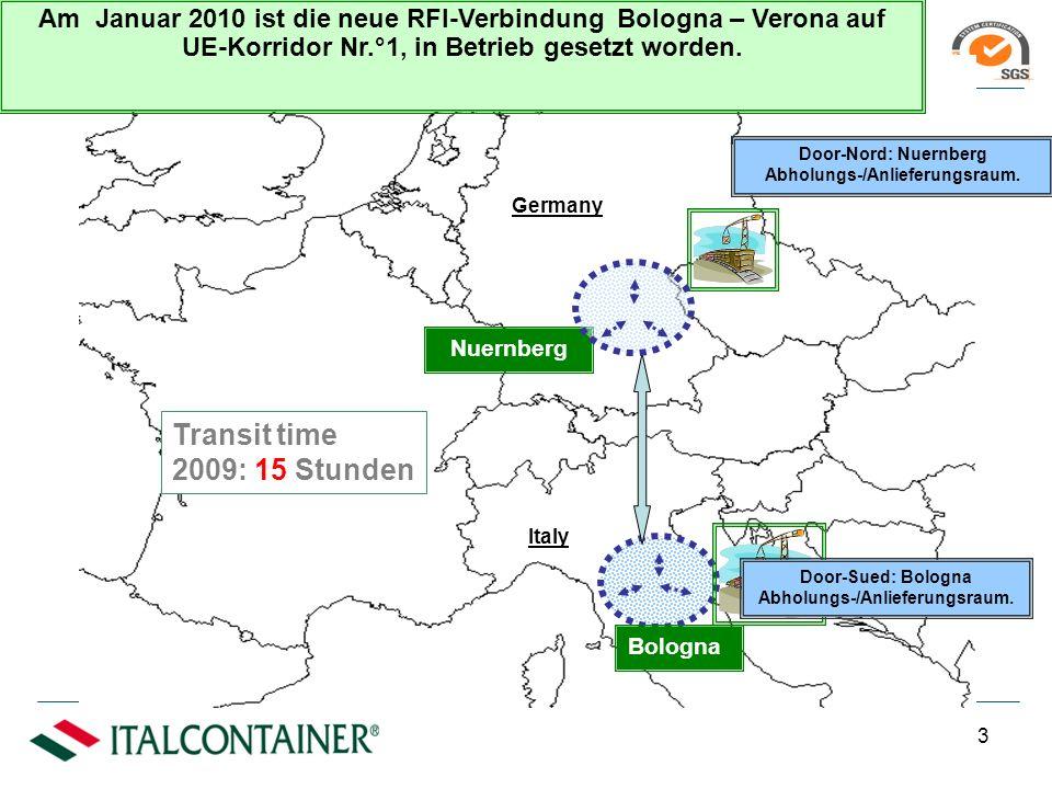 Leistungen Kombiniertes Verkehr (Bahntransport + Terminal + LKW) Bahntransport + Terminal Jeden Tag bereiten wir 28 Zuege auf 15 Bahnverbindungen vor.