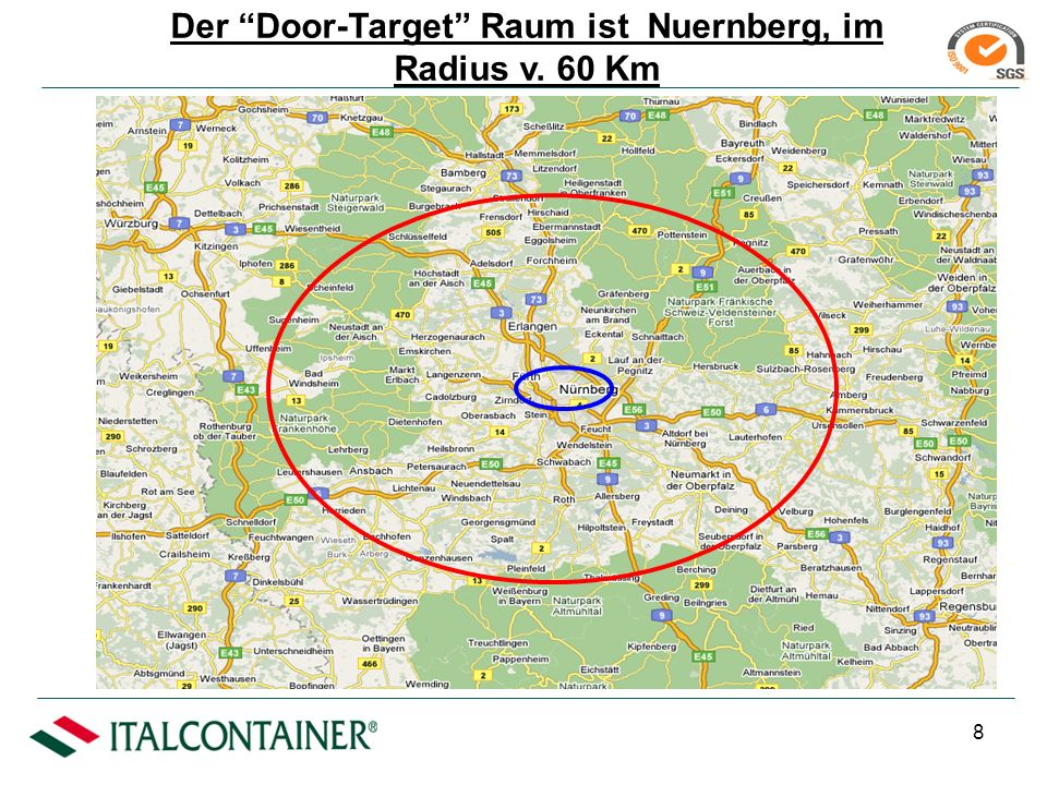 7 Bologna-Nuernberg: Unser Dienstangebot ist zum Transport von Containers (20 – 30 – 40,auch HC) und Wabs (13.60 Mt.