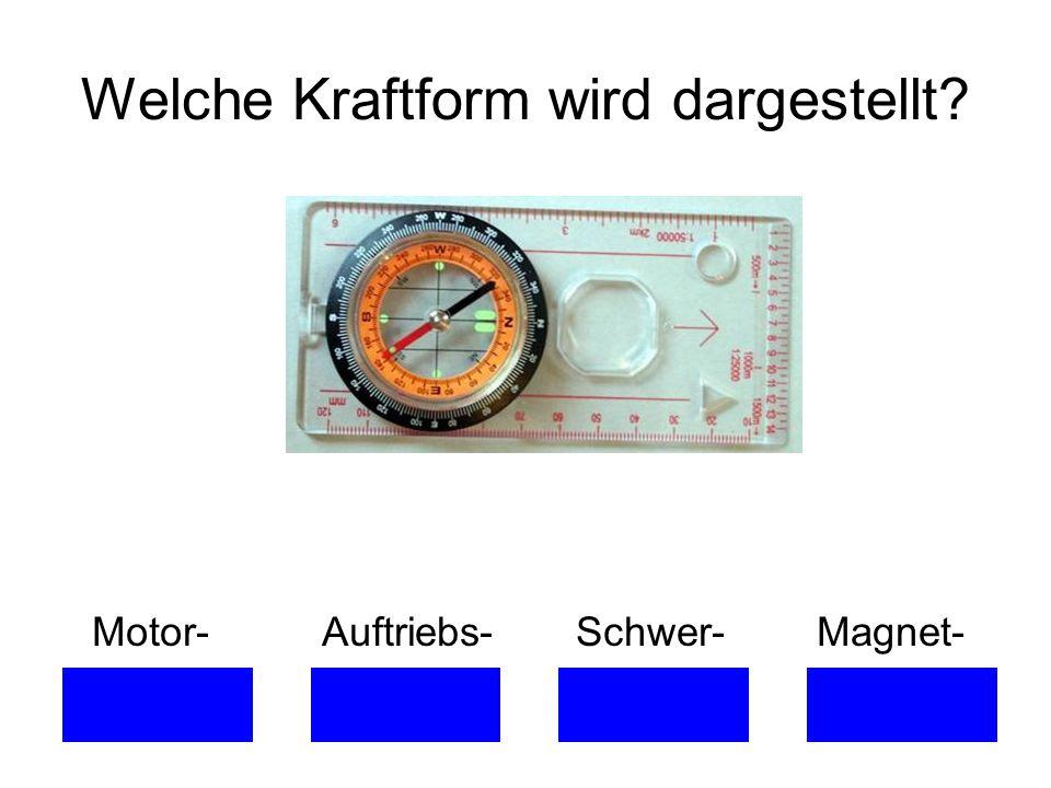 Welche Kraftform wird dargestellt? Motor- Auftriebs- Schwer- Magnet-
