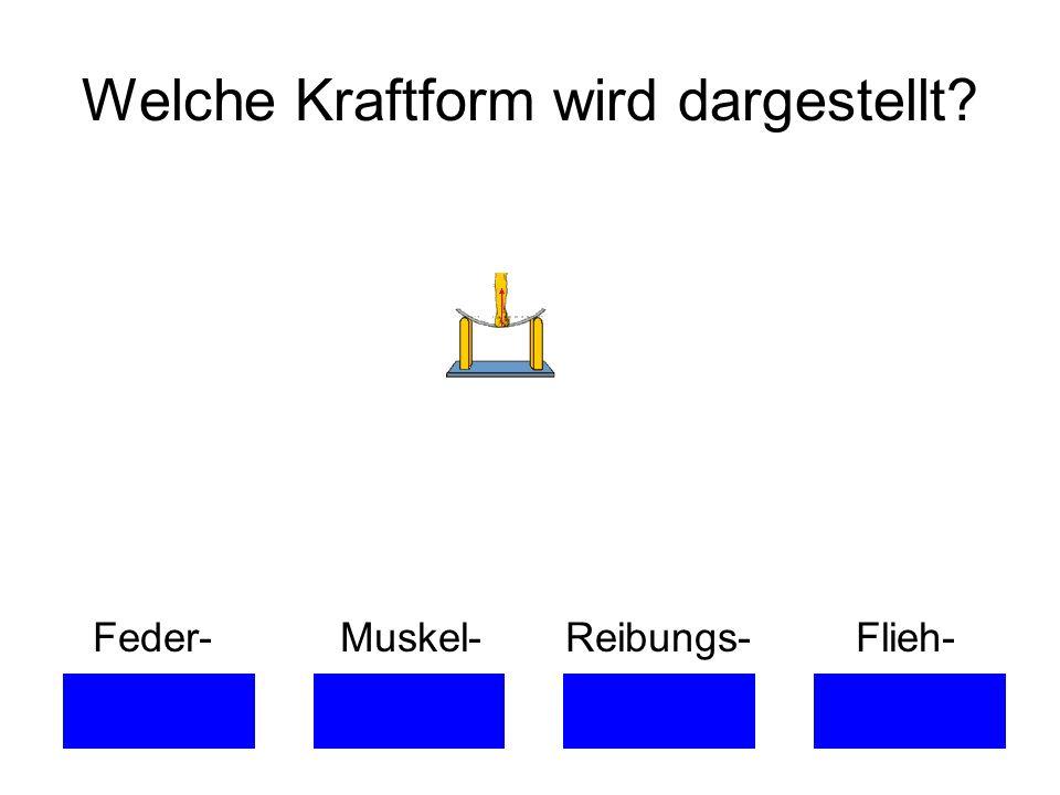 Welche Kraftform wird dargestellt? Feder- Muskel- Reibungs- Flieh-