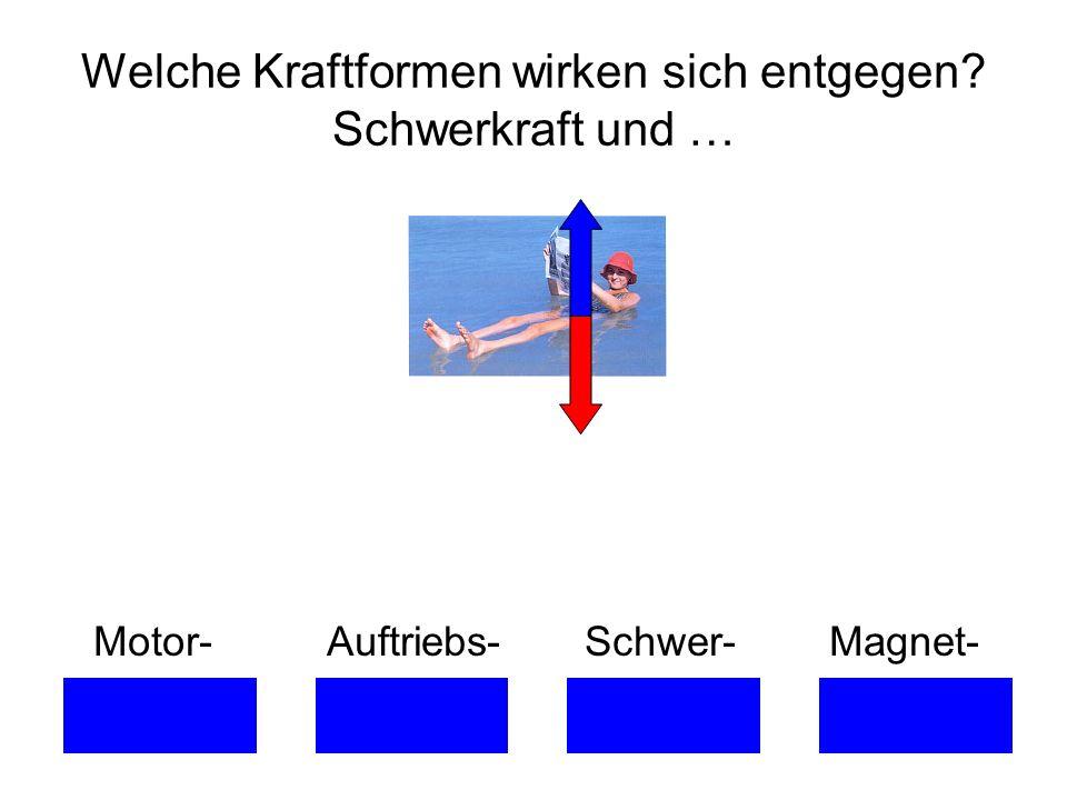Motor- Auftriebs- Schwer- Magnet- Welche Kraftformen wirken sich entgegen? Schwerkraft und …