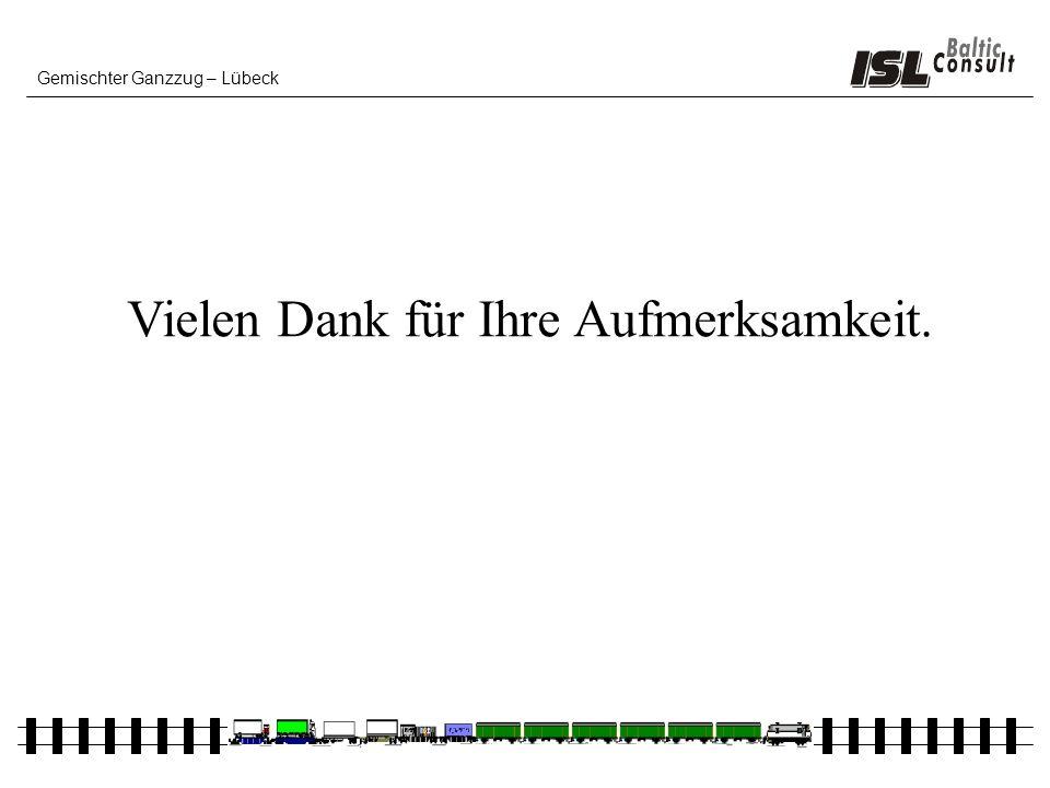 Gemischter Ganzzug – Lübeck Vielen Dank für Ihre Aufmerksamkeit.