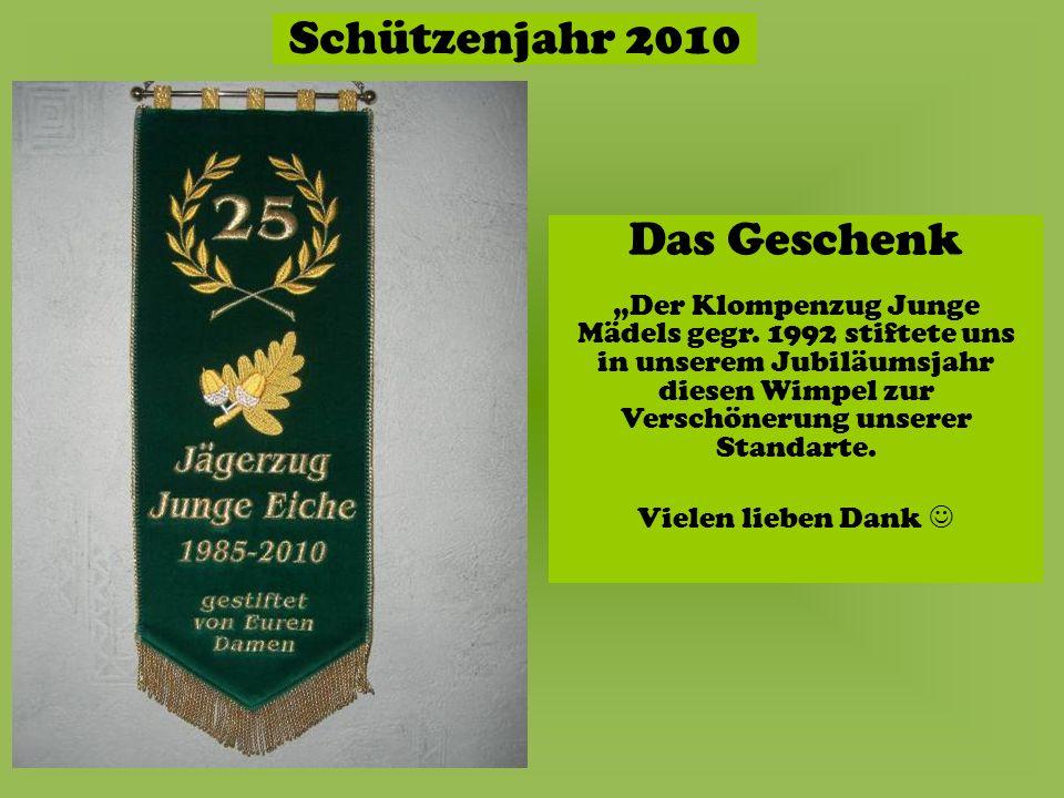 Schützenjahr 2010 Falscher IMPERATOR Richtiger IMPERATOR