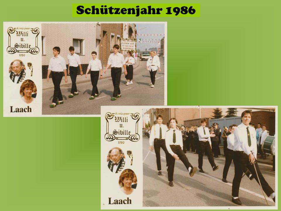 Schützenjahr 1986