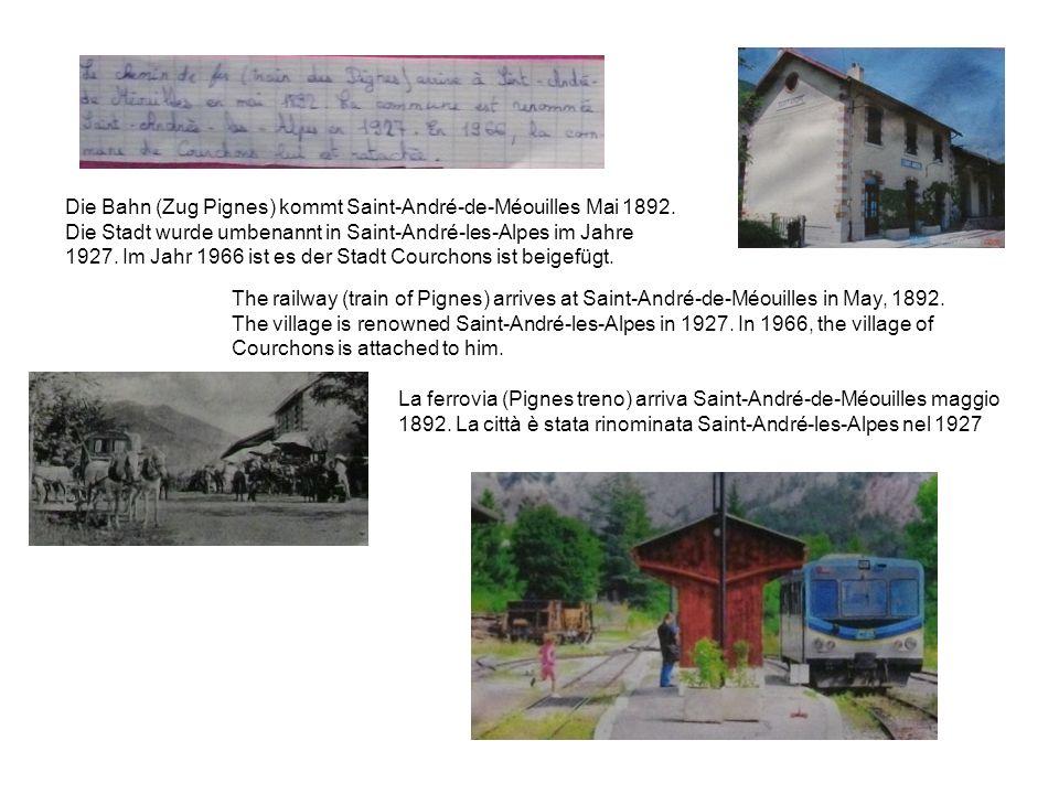Die Bahn (Zug Pignes) kommt Saint-André-de-Méouilles Mai 1892.