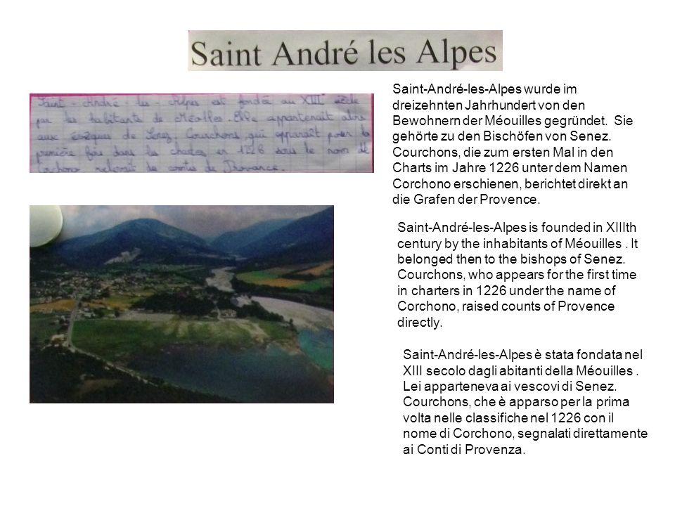 Saint-André-les-Alpes wurde im dreizehnten Jahrhundert von den Bewohnern der Méouilles gegründet.