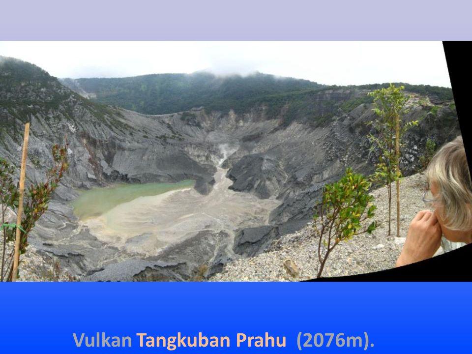 Vulkan Tangkuban Prahu (2076m).