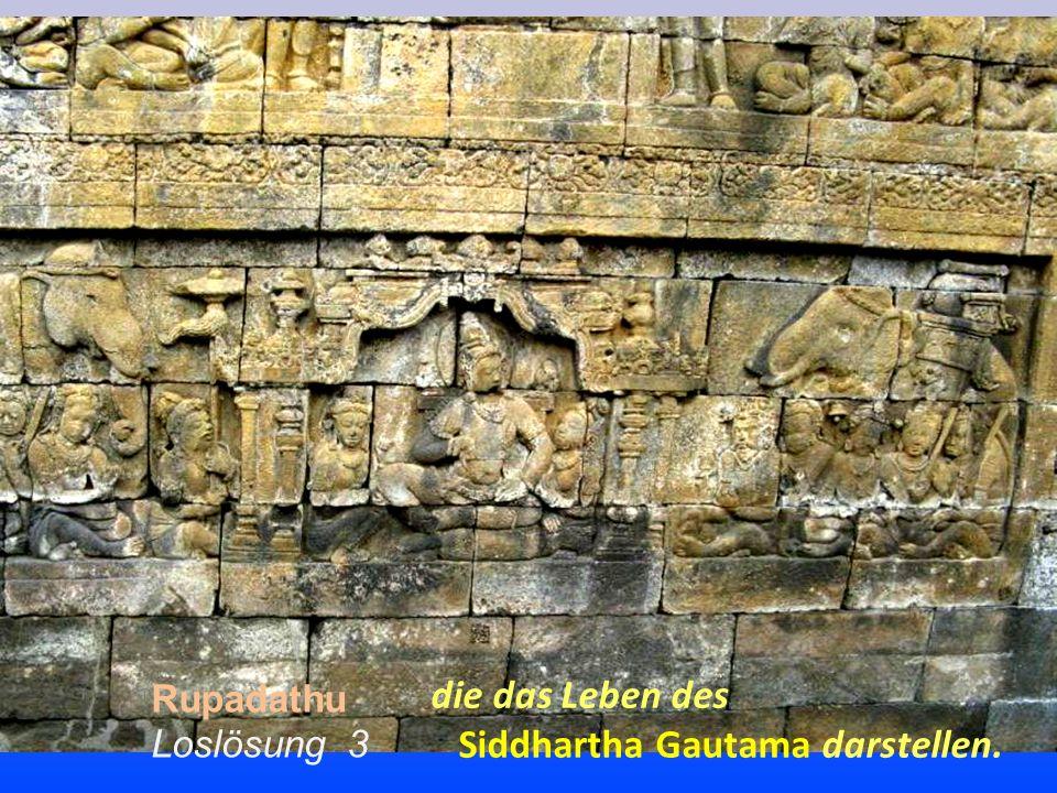 Rupadathu Loslösung 3 die das Leben des Siddhartha Gautama darstellen.