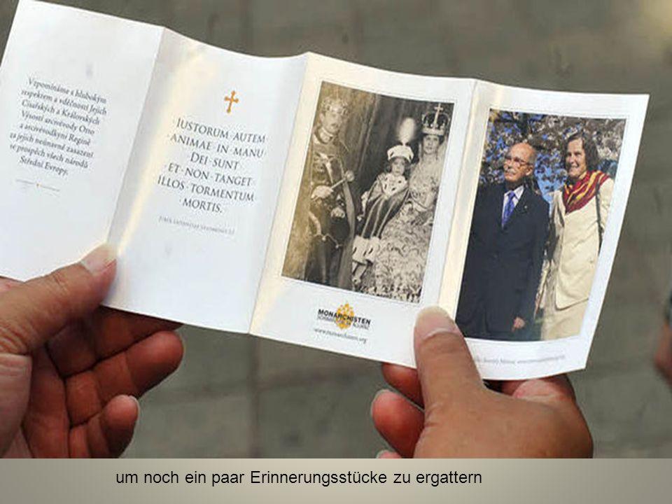 Für Habsburg-Fans ein Muss: Adelsexpertin Gabi ist für die Beisetzung extra aus Bayern angereist,...