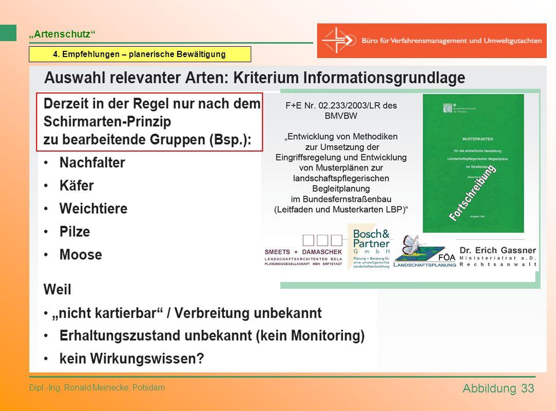 Abbildung 33 Dipl.-Ing. Ronald Meinecke, Potsdam Artenschutz 4. Empfehlungen – planerische Bewältigung