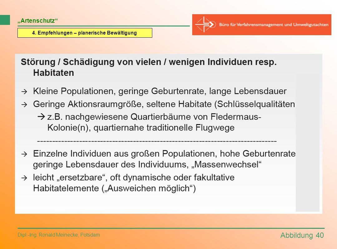 Abbildung 40 Dipl.-Ing. Ronald Meinecke, Potsdam Artenschutz 4. Empfehlungen – planerische Bewältigung