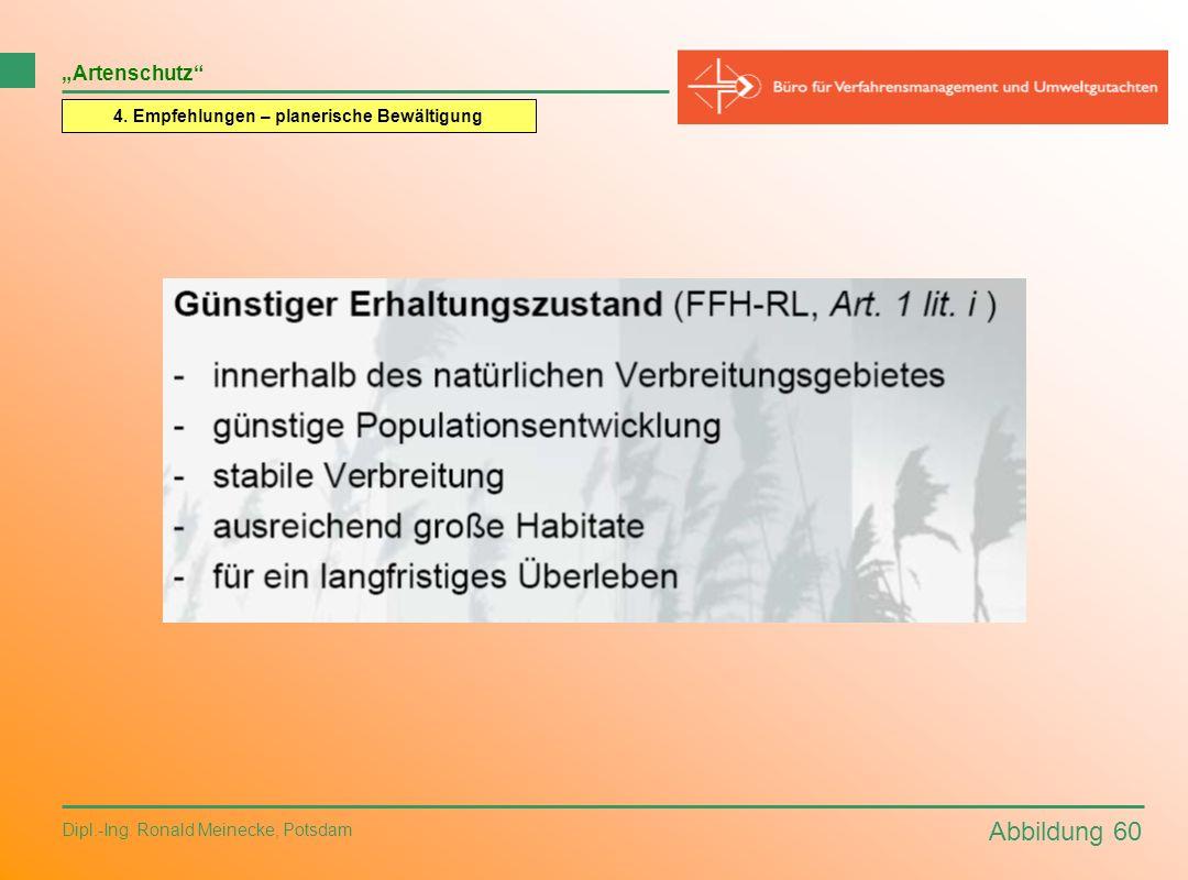 Abbildung 60 Dipl.-Ing. Ronald Meinecke, Potsdam Artenschutz 4. Empfehlungen – planerische Bewältigung