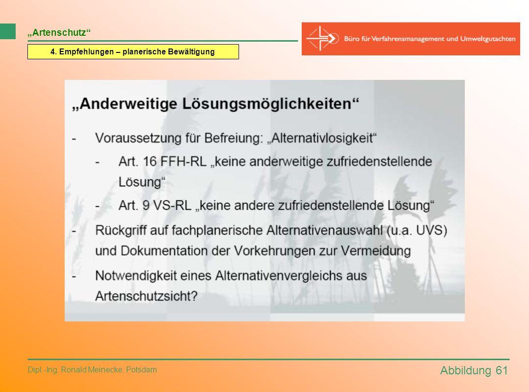 Abbildung 61 Dipl.-Ing. Ronald Meinecke, Potsdam Artenschutz 4. Empfehlungen – planerische Bewältigung