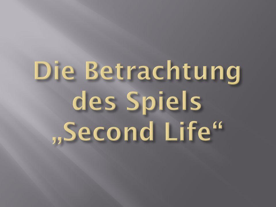 Second Life – ein rechtsfreier Raum ?